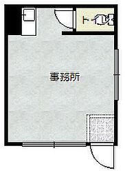 JR片町線(学研都市線) 忍ヶ丘駅 徒歩4分の賃貸マンション 1階ワンルームの間取り