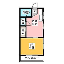 白石山・ハイツ[2階]の間取り