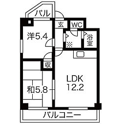都筑マンション[2階]の間取り