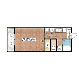 エクセレンスKU[4階]の間取り