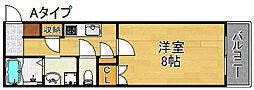 ミューズ・ショコラ[2階]の間取り
