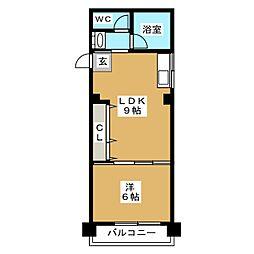 柴田コーポ[5階]の間取り