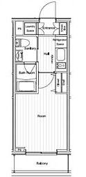 ベルグレードYS[6階]の間取り