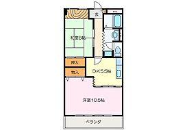 花岡サンシティー[2階]の間取り