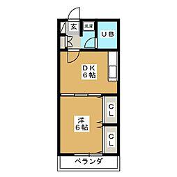 メゾンブランシュ1号館[5階]の間取り