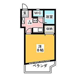 マンションビクトリー[7階]の間取り