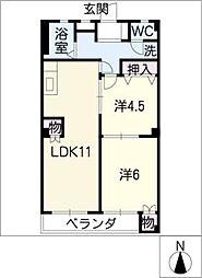 四ッ谷ビル[6階]の間取り