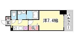 レジュールアッシュ神戸元町[12階]の間取り