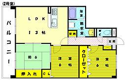 プレステージ和白3[6階]の間取り