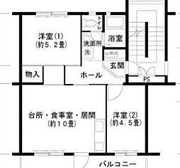 泉北桃山台1丁団地[5階]の間取り