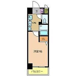 クリエイト21アテンドル梅田[3階]の間取り