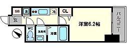 プレサンスOSAKA DOMECITY ワンダー 3階1Kの間取り
