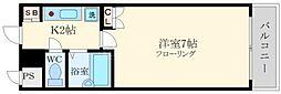 リバティ桜川[5階]の間取り