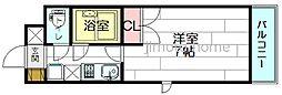 セレクト江坂[5階]の間取り