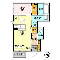 ルーチェ B棟[1階]の間取り