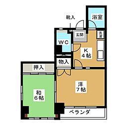 徳川ビル[2階]の間取り