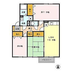デルフィーノB棟[2階]の間取り