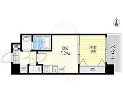 Orientem 6階1LDKの間取り