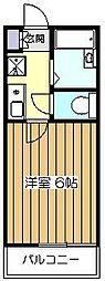 東京都東久留米市南町2丁目の賃貸アパートの間取り
