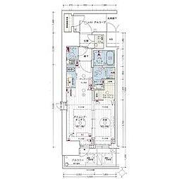 エステムコート名古屋新栄IIアリーナ 6階1DKの間取り
