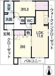インフィニIII[2階]の間取り