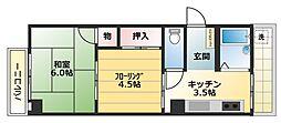 ゲンズコーポ篠原[2階]の間取り