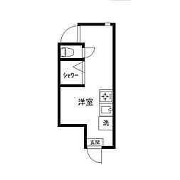東京都新宿区西落合3の賃貸アパートの間取り