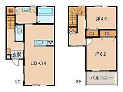 仮称 La Ferio 西庄第11[2階]の間取り