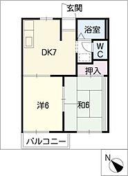 タウニー青山[1階]の間取り