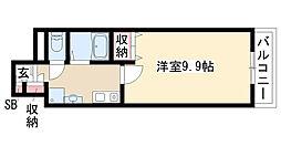 愛知県名古屋市緑区東神の倉1の賃貸マンションの間取り