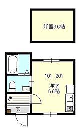 ベイルーム戸塚II[101号室号室]の間取り