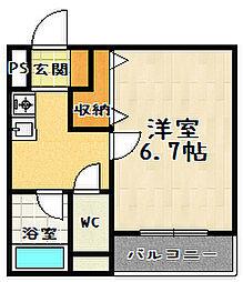 リバティ 92[3階]の間取り