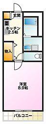 サンシアルザ長田[301号室]の間取り