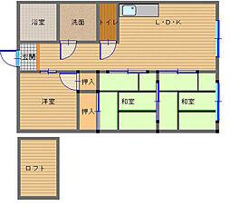 長崎県長崎市東町の賃貸アパートの間取り