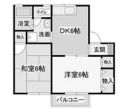 セジュール共和[1階]の間取り