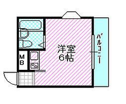 エクセルマンション[5階]の間取り