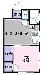 東京都豊島区駒込2丁目の賃貸マンションの間取り
