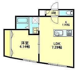 Residence 5c[501号室]の間取り