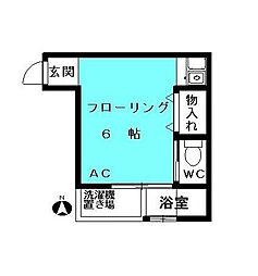 東京都足立区千住旭町の賃貸マンションの間取り