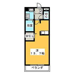 Three-D garden本山[4階]の間取り