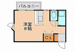 ピナクル笹原[2階]の間取り