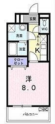 KMG横浜[2階]の間取り