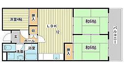 東山ハイツ[301号室]の間取り