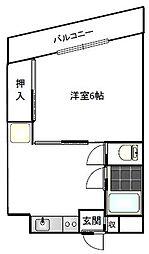 コーポ紫苑[201号室]の間取り