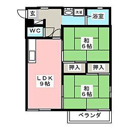 バースディハイツIII[2階]の間取り