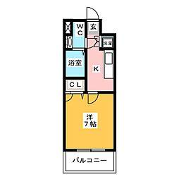 サヴォイザティファナ[14階]の間取り