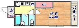 エスペランサ御影3[303号室]の間取り