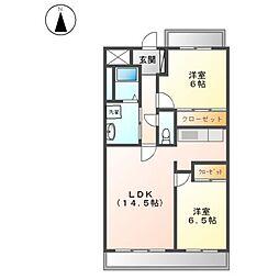 愛知県名古屋市西区笠取町1丁目の賃貸マンションの間取り