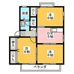 コージーコート B棟[2階]の間取り