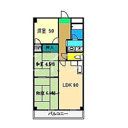 マンションロイヤル[2階]の間取り